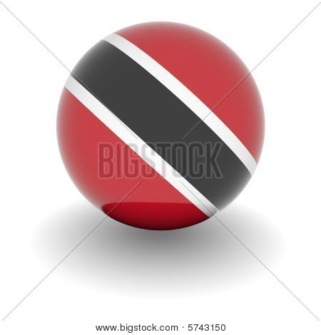 High Resolution Ball With Flag Of Trinidad And Tobago
