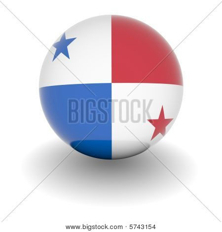 High Resolution Ball With Flag Of Panama