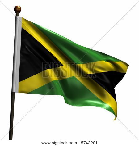 High Resolution Flag Of Jamaica