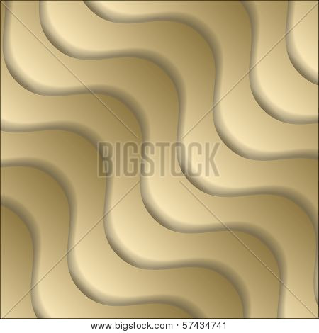 Golden Vector Abstract Backdrop With Pantiles