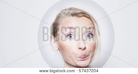 Funny Portrait Of Blonde Girl