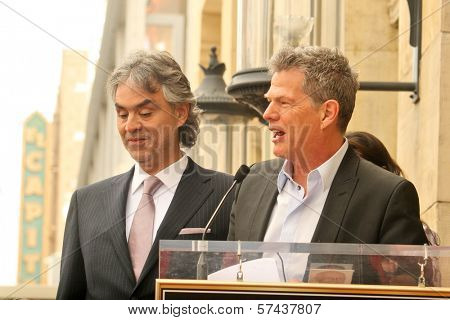Andrea Bocelli and David Foster at the induction ceremony for Andrea Bocelli into the Hollywood Walk of Fame, Hollywood, CA. 03-02-10