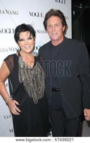 Kris Jenner and Bruce Jenner at a Vogue Dinner Honoring Vera Wang, Vera Wang Store, Los Angeles, CA. 03-02-10