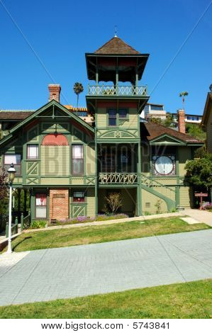 Green Vintage House