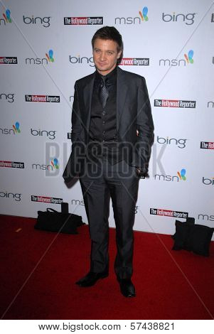 Jeremy Renner  at the Hollywood Reporter's Nominee's Night at the Mayor's Residence, presented by Bing and MSN, Private Location, Los Angeles, CA. 03-04-10