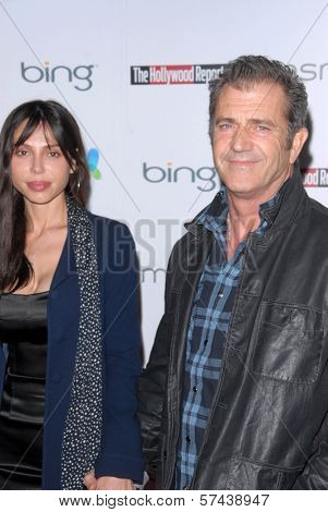 Oksana Grigorieva and Mel Gibson  at the Hollywood Reporter's Nominee's Night at the Mayor's Residence, presented by Bing and MSN, Private Location, Los Angeles, CA. 03-04-10