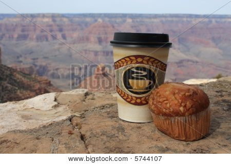 Usa- Grand Canyon, Coffee And Muffin