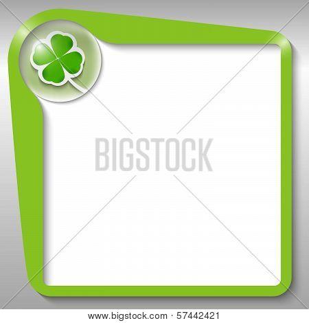 Green Text Box With Cloverleaf