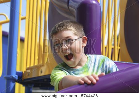 Happy At The Playground