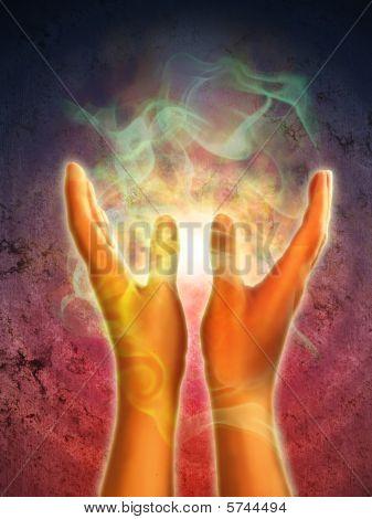 Hände Energie