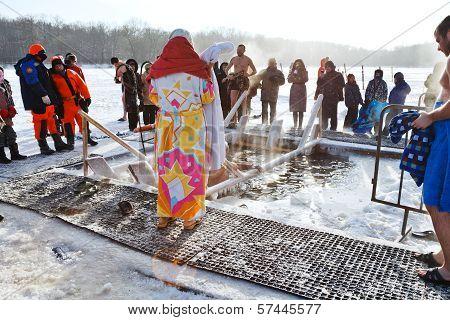 Ice Swimming on Epiphany Day