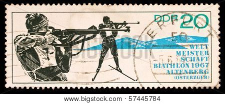 Gdr Stamp, Biathlon World Championship