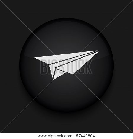 Vector origami plane icon. Eps10. Easy to edit