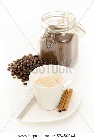 Coffee Portrait On White