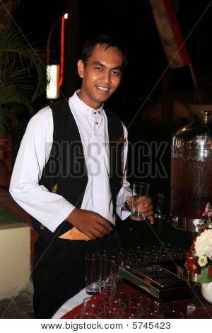 waiter at dinner