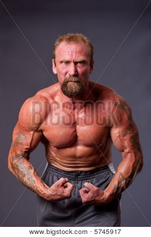 Middle Aged Man Body Builder