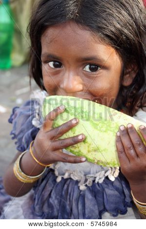 Hungry Girl In Poverty