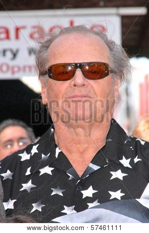 Jack Nicholson  at the Hollywood Walk of Fame induction ceremony for Dennis Hopper, Hollywood Blvd., Hollywood, CA. 03-26-10