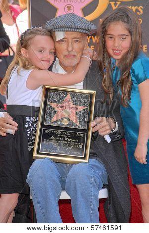 Dennis Hopper, Galen Hopper and Violet Goldstone at the Hollywood Walk of Fame induction ceremony for Dennis Hopper, Hollywood Blvd., Hollywood, CA. 03-26-10