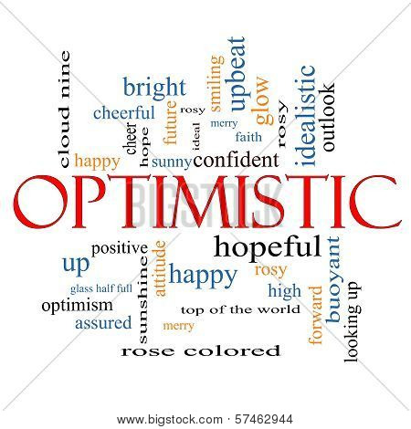 Optimistic Word Cloud Concept