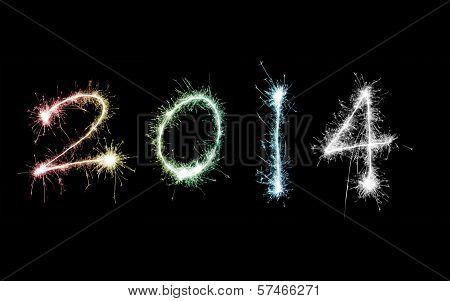 2014 In Fiery Sparklers