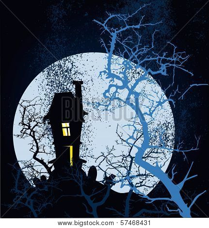 Happy Halloween Grunge Poster