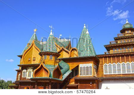 Ancient Wooden Palace Of The Russian Tsar Alexei Mikhailovich
