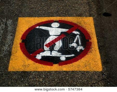 No Skateboarding.