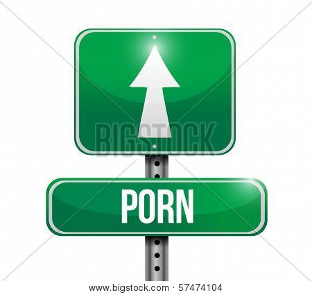 Porn Road Sign Illustration Design