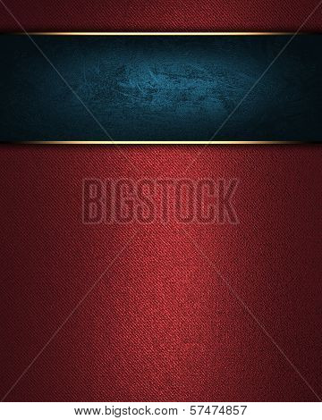 Red background with Blue nameplate for writing.