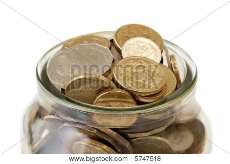 Jar Of Australian Coins