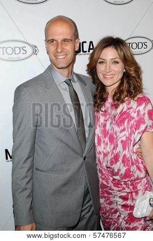 Eduardo Ponti and Sasha Alexander at the Tod's Beverly Hills Boutique Opening Celebration, Tod's Boutique, Beverly Hills, CA. 04-15-10