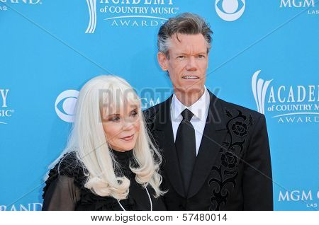 Randy Travis and Wife Elizabeth at the 45th Academy of Country Music Awards Arrivals, MGM Grand Garden Arena, Las Vegas, NV. 04-18-10
