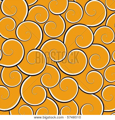 Orange Swirl Background