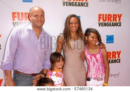 Melanie Brown and family  at the Los Angeles Premiere of