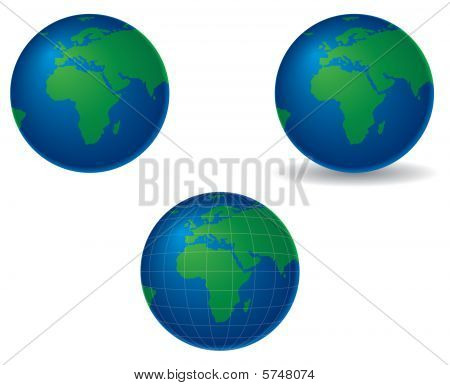 Globes - Europe And Africa