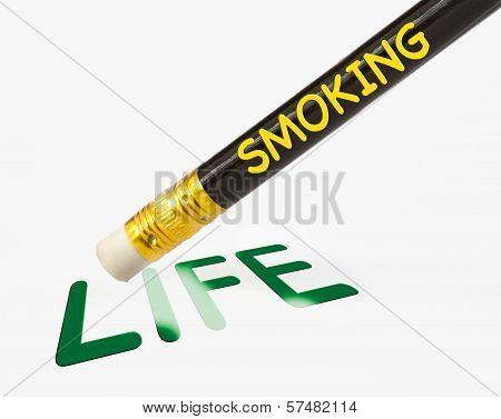 Smoking erases life