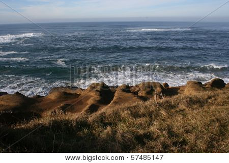 Pacific Ocean Horizon on Oregon Coast