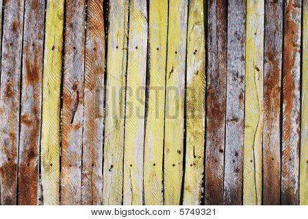 Grungy Old Wooden Picket Fence