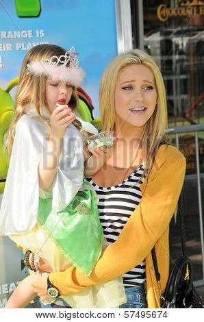 Stephanie Pratt and niece Eva  at the