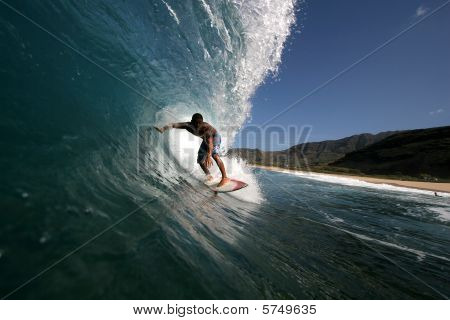 Hawaiian surfer