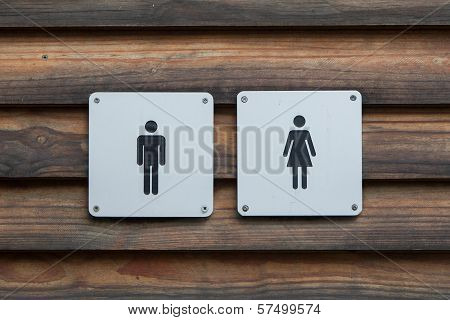 Man And A Lady Toilet Sign