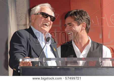 Garry Marshall and John Stamos  at the induction ceremony of John Stamos into the Hollywood Walk of Fame, Hollywood Blvd., Hollywood, CA. 11-16-09