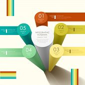 image of cylinder  - modern vector abstract 3d cylinder infographic elements - JPG