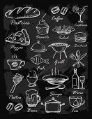 stock photo of dessert plate  - menu icons - JPG