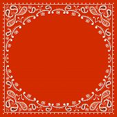 Red Cowboy Bandanna.vector illustration