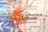Denver, Colorado in the USA on the map