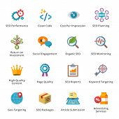 stock photo of high-quality  - This set contains 16 SEO and Internet Marketing Flat Icons that can be used for designing and developing websites - JPG