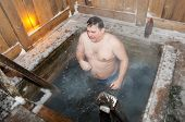 The Man Bathes In An Ice-hole