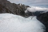 stock photo of arctic fox  - Franz Josef Glacier from top view - JPG